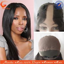 2015 new style silky straight u part human hair wigs, full lace u-shaped wigs