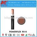 600/1000v rv-k powerflex cable( 0.6/1kv cu/xlpe/pvc) conductor flexible