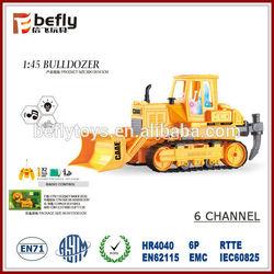 Children 6-CH construction toy r c bulldozer