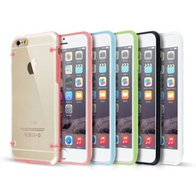 Clear Hard Back Silicone TPU Bumper Cover Case For New Apple iPhone 6 & 6+ Plus