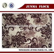 Flower Pattern Flocking Print Materials African Velvet Lace Fabric