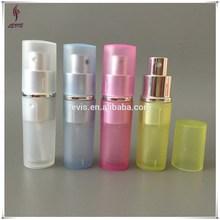 Plastic and glass 8ml perfume travel atomizer