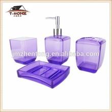 home designs plastic bathroom accessory set with tumbler