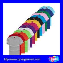 china manufacture kids blank tshirt bulk wholesale 100% cotton plain tshirt for children made in china