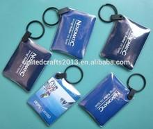 Customized logo printed hand promotion customized reflective keychain