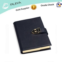 Office supply deluxe A5 Refillable Leather diary with lock