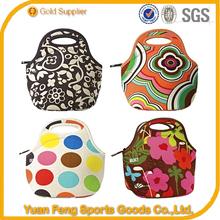 for school neoprene insulated Customized size neoprene lunch bag neoprene tote bag