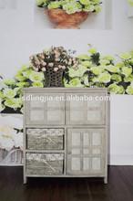 Ikea Grey Wicker Lined Basket Storage Units Living Room Furniture