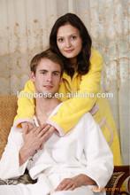 Cost price 100% Cotton hotel bathrobe 100% Cotton bathrobe 100% cotton cut velet /waffle/towel choth bathrobe