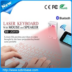 2015 Magic Cube virtual laser keyboard.cheap wireless Keyboard and Mouse&Bluetooth Speaker for all phones laptop