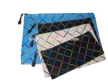 Customized school pencil bag/printing stationery bag/zipper slider plastic pencil bag