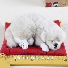 fake decorative lifelike mini snoring toy puppy