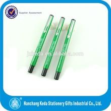 good design custom logo pen brand name green color metal pen