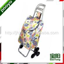fold up luggage cart fashion double layer shopping cart