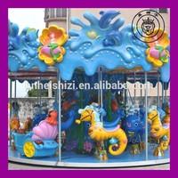 Cartoon animal shaped electric kids luxury ocean carousel ridesride ,2015 HOT!!