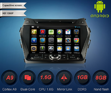 8 inch HD 1024*600 4.4.4 android car radio gps mirror link for hyundai Santafe IX45 2013 WS-9221