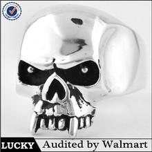 316l stainless steel jewelry skull mens biker ring