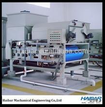 Compact sewage treatment plant dewatering machine