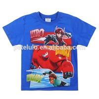 2015 new baby t shirt Big hero t shirt boys petelulu tops kid t-shirt cartoon hero baby tees summer cartoon children t shirt