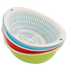 Two layers Plastic Vegetable Fruit Washing Basket, Washing Rice Box