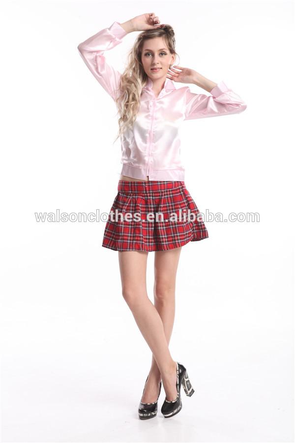 Signore grasso pink lady giacca di raso 50's anni'50 Frenchie Rizzo costume