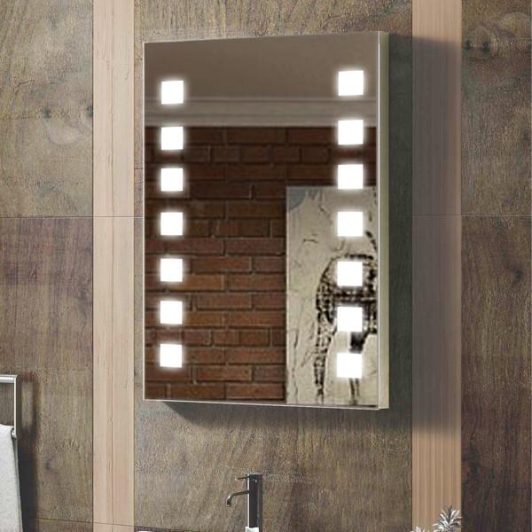 Decoração elegante iluminado Salon Wall chuveiro do banheiro do Hotel espelho -> Decoracao Banheiro Chuveiro