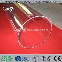 Clear high temperature large diameter quartz glass tube with good price
