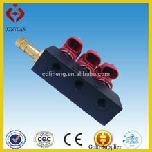 Coche gnc / glp inyector del carril para 3,4, 6,8 cilindro