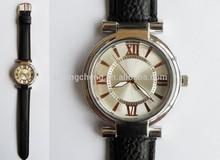 2015 hot sale fashion elegant roman number dial pu strap vogue wristwatch for lady