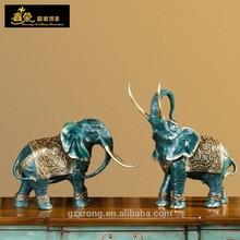 Bronze animal statue (one set ) copper small elephant statue for home decor