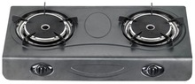 2 Burner Infrared Light Gas Stove with Stainless Steel Panel for Kitchen Use