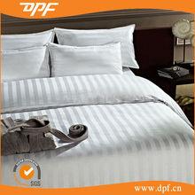 100%cotton sateen plaid/stripe duvet covers bedding sets hotel