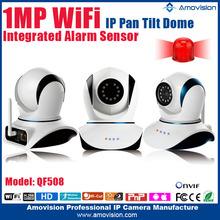 Amovision QF508 H.264 Wireless P2P Onvif pan tilt HD 720P indoor Infrared mini wireless camera