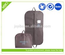 Customized logo reusable storage foldable polyester suit bag