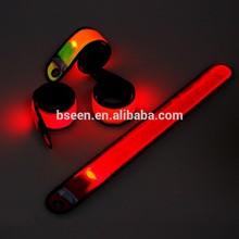 New products 2015 custom reflective slap bands hot wholesale flashing led safety led slap bands