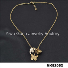 fashion new gold empty cup chain necklace