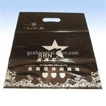Cheap Graphie Printed Die Cut Punch Retail Plastic Shopping Bag