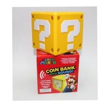 wholesale PVC 10cm Super Mario Bros Question mark Send cash box action figure