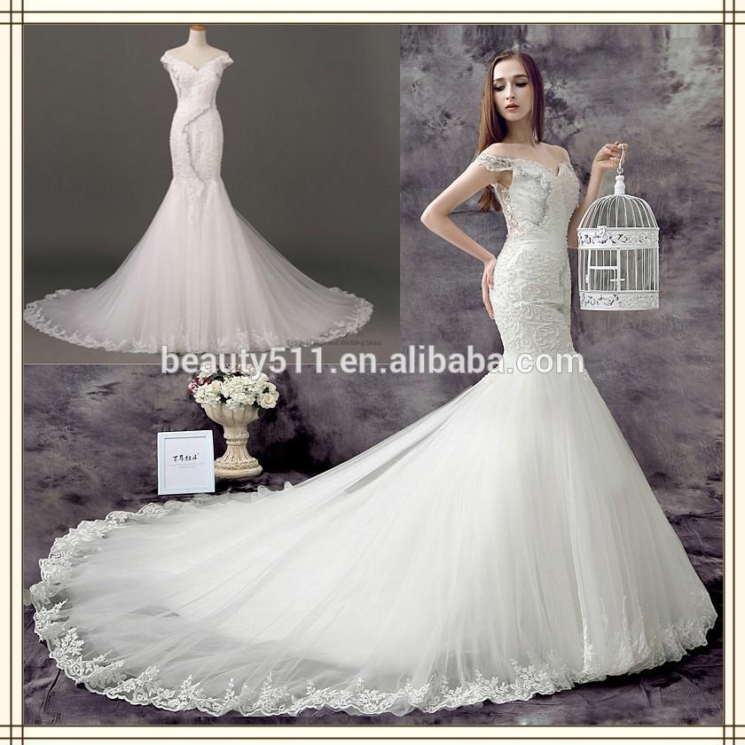 ... meerjungfrau spitze langarm brautkleid brautkleid bn10-Brautkleider