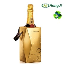 Paper Box with Handle Champagne Bottle Wine Luxury Paper Gift Box