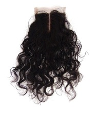 African american women baby hair invisible middle part lace closure