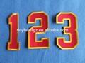 Artículos deportivos número remiendo del bordado