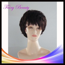 short style fashion model good quality 100% handtied virgin human hair front lace wig