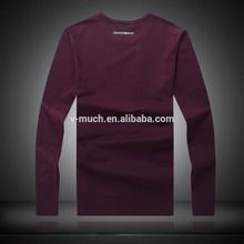 OEM fashion comfortable o-neck cotton casual men long sleeve t-shirt