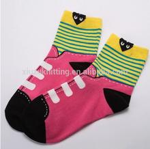 novelty lady jacquard ankle sock bear fashion shoe knitted sock