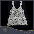 nuevo diseño de moda del bordado de encaje de verano chaleco de moda para dama