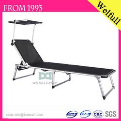 BSCI 193*59*30cm Aluminium Frame High Quality Cheap Wholesale Folding Beach Bed With Canopy
