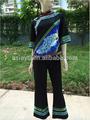 Neuesten design-frauen 2 stück anzug stickerei Bild traditionelle chinesische kleidung