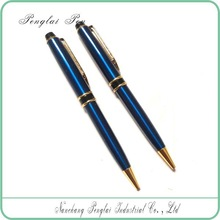 Elegant promotional gift items twist dark blue ballpoint metal decoration gift pen