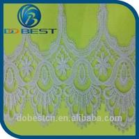 wedding decorations ivory lace veil handwork lace trims high quality swiss voile cotton laces